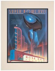 "1983 Redskins vs Dolphins 10.5"" x 14"" Matted Super Bowl XVII Program"