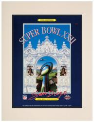 "1988 Redskins vs Broncos 10.5"" x 14"" Matted Super Bowl XXII Program"