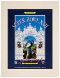 "1988 Redskins vs Broncos 10.5"" x 14"" Matted Super Bowl XXII Program"