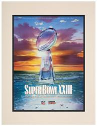 """1989 49ers vs Bengals 10.5"""" x 14"""" Matted Super Bowl XXIII Program"""