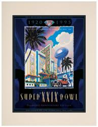 "1995 49ers vs Chargers 10.5"" x 14"" Matted Super Bowl XXIX Program"