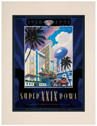 "1995 49ers vs Chargers 10.5"" x 14"" Matted Super Bowl XXIX Program"