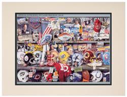 """1991 Giants vs Bills 10.5"""" x 14"""" Matted Super Bowl XXV Program"""