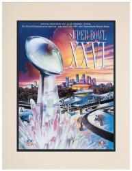"1992 Redskins vs Bills 10.5"" x 14"" Matted Super Bowl XXVI Program"