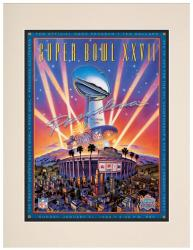 "1993 Cowboys vs Bills 10.5"" x 14"" Matted Super Bowl XXVII Program"