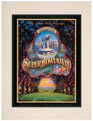 "1994 Cowboys vs Bills 10.5"" x 14"" Matted Super Bowl XXVIII Program - Mounted Memories"