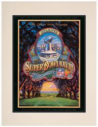 "1994 Cowboys vs Bills 10.5"" x 14"" Matted Super Bowl XXVIII Program"