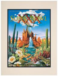 "1996 Cowboys vs Steelers 10.5"" x 14"" Matted Super Bowl XXX Program"
