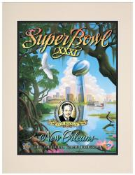 "1997 Packers vs Patriots 10.5"" x 14"" Matted Super Bowl XXXI Program"