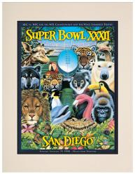 "1998 Broncos vs Packers 10.5"" x 14"" Matted Super Bowl XXXII Program"