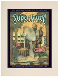 "1999 Broncos vs Falcons 10.5"" x 14"" Matted Super Bowl XXXIII Program"