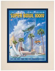 "2001 Ravens vs Giants 10.5"" x 14"" Matted Super Bowl XXXV Program"