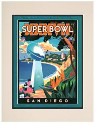 "2003 Buccaneers vs Raiders 10.5"" x 14"" Matted Super Bowl XXXVII Program"