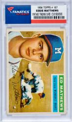 MATTEWS, EDDIE (1956 TOPPS # 107) CARD - Mounted Memories