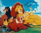 Matthew Broderick and James Earl Jones autographed 8x10 photo (The Lion King Simba and Mufasa)