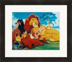 Matthew Broderick and James Earl Jones autographed 8x10 photo (The Lion King Simba and Mufasa) Matted & Framed
