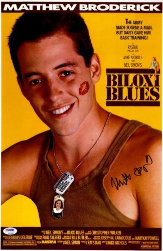 "Matthew Broderick Autographed 12"" x 17"" Biloxi Blue Movie Poster -PSA/DNA COA"