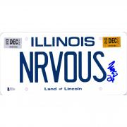 Matthew Broderick Ferris Bueller's Day Off Autographed Illinois NRVOUS License Plate - BAS