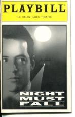 Matthew Broderick J. Smith-Cameron Paddy Croft Night Must Fall Playbill