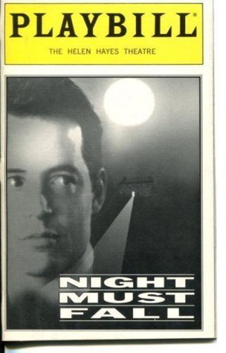 Matthew Broderick J. Smith-Cameron Paddy Croft Night Must Fall Playbill