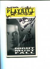 Matthew Broderick Judy Parfitt Night Must Fall Cast Signed Autograph Playbill