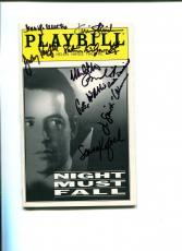 Matthew Broderick Judy Parfitt Night Must Fall Cast Signed Autograph Playbill