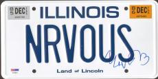"""MATTHEW BRODERICK Signed Ferris Bueller """"NRVOUS""""  License Plate PSA/DNA #AC94623"""