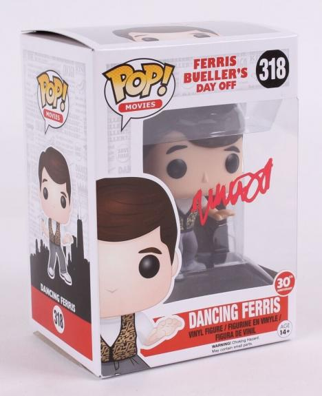 Matthew Broderick Signed Ferris Bueller's Day Off Funko Pop Vinyl Figure Beckett
