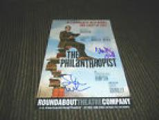 Matthew Broderick Steven Weber Signed 6x9 Philanthropist Play Card PSA Guarantee