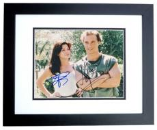 Matthew McConaughey and Sandra Bullock Signed - Autographed 8x10 inch Photo with JK Livin Inscription BLACK CUSTOM FRAME - Guaranteed to pass PSA or JSA