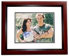 Matthew McConaughey and Sandra Bullock Signed - Autographed 8x10 inch Photo with JK Livin Inscription MAHOGANY CUSTOM FRAME - Guaranteed to pass PSA or JSA