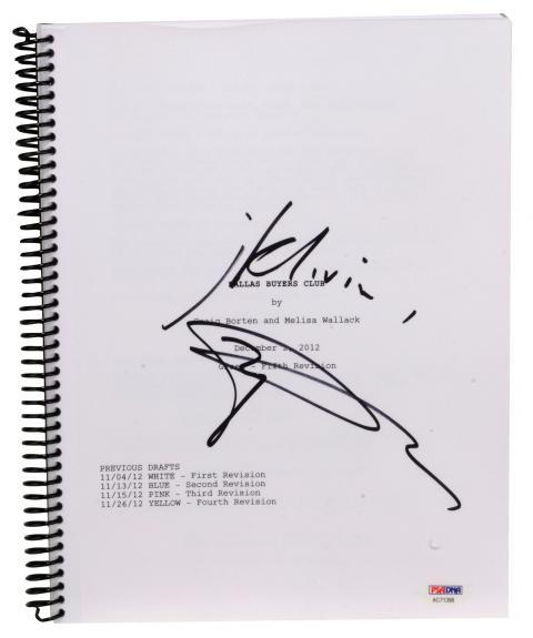 Matthew McConaughey Autographed Dallas Buyers Club Replica Movie Script - PSA/DNA COA