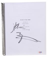 Matthew McConaughey Autographed The Wolf of Wall Street Replica Movie Script - PSA/DNA COA