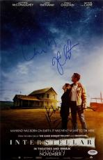 MATTHEW McCONAUGHEY Jessica Chastain CHRIS NOLAN Signed Interstellar 11x17 PSA
