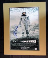 Matthew McConaughey Jessica Chastain Signed 11x17 Interstellar Photo PSA/DNA ...