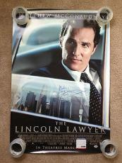 Matthew Mcconaughey Signed 27x40 Original Movie Poster Lincoln Lawyer Psa Coa