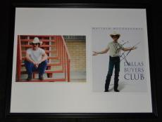 Matthew McConaughey Signed Framed 16x20 Photo Set Dallas Buyers Club