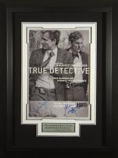 Matthew McConaughey signed True Detective 22X30 Masterprint Poster Custom Black Framed 2 sigs (tv/entertainment/photo)