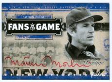 Autographed Matthew Modine Photo - 2005 Donruss Fans of the Game card sc