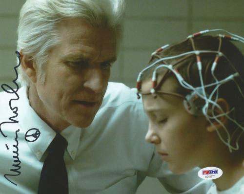 Matthew Modine Stranger Things Season 1 Signed 8x10 Photo PSA/DNA COA (A)
