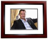Matthew Perry Signed - Autographed FRIENDS Actor 8x10 inch Photo MAHOGANY CUSTOM FRAME - Guaranteed to pass PSA or JSA