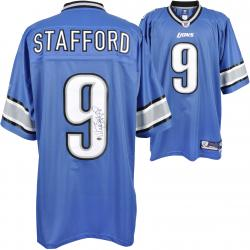 Matthew Stafford Detroit Lions Autographed Authentic Reebok Jersey