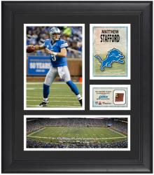 """Matthew Stafford Detroit Lions Framed 15"""" x 17"""" Collage with Game-Used Football"""