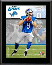 "Matthew Stafford Detroit Lions Sublimated 10.5"" x 13"" Composite Plaque"