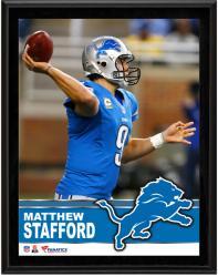 """Matthew Stafford Detroit Lions Sublimated 10.5"""" x 13"""" Plaque"""