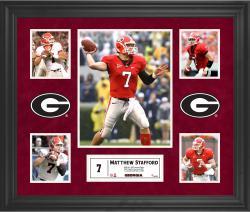 Matthew Stafford Georgia Bulldogs Framed 5-Photo Collage