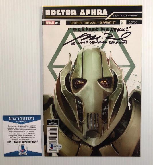 Matthew Wood Signed Autographed Stars Wars General Grievous Comic BECKETT COA 1