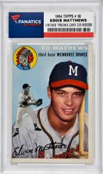Eddie Matthews Milwaukee Braves 1954 Topps #30 Card - Mounted Memories