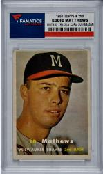 Eddie Matthews Atlanta Braves 1957 Topps #250 Card - Mounted Memories