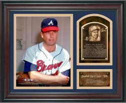 "Eddie Matthews Baseball Hall of Fame Framed 15"" x 17"" Collage with Facsimile Signature  - Mounted Memories"